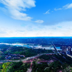 航拍渠县之建设中的文峰山公园